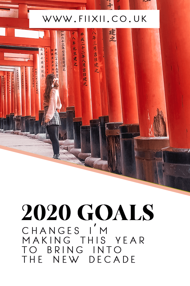2020 goals - changes i'm making to take into the new decade