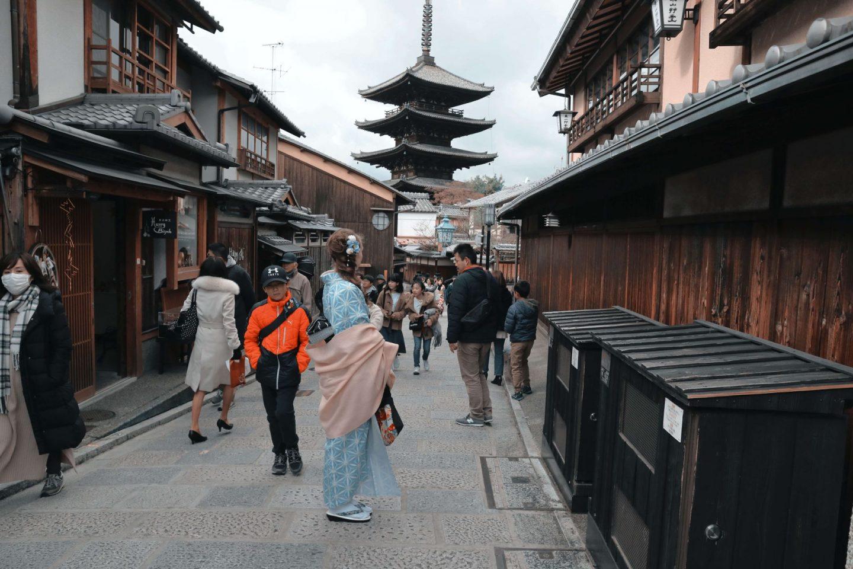 kimono rental near toji temple
