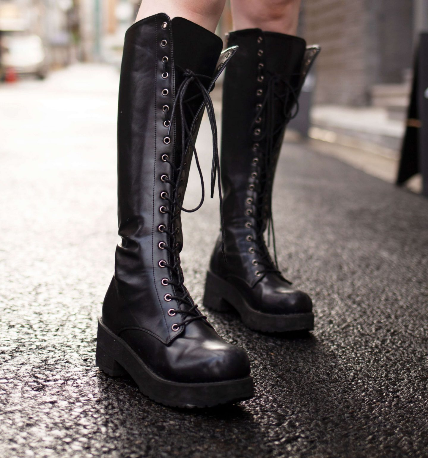 wardrobe staple chunky cleated boots