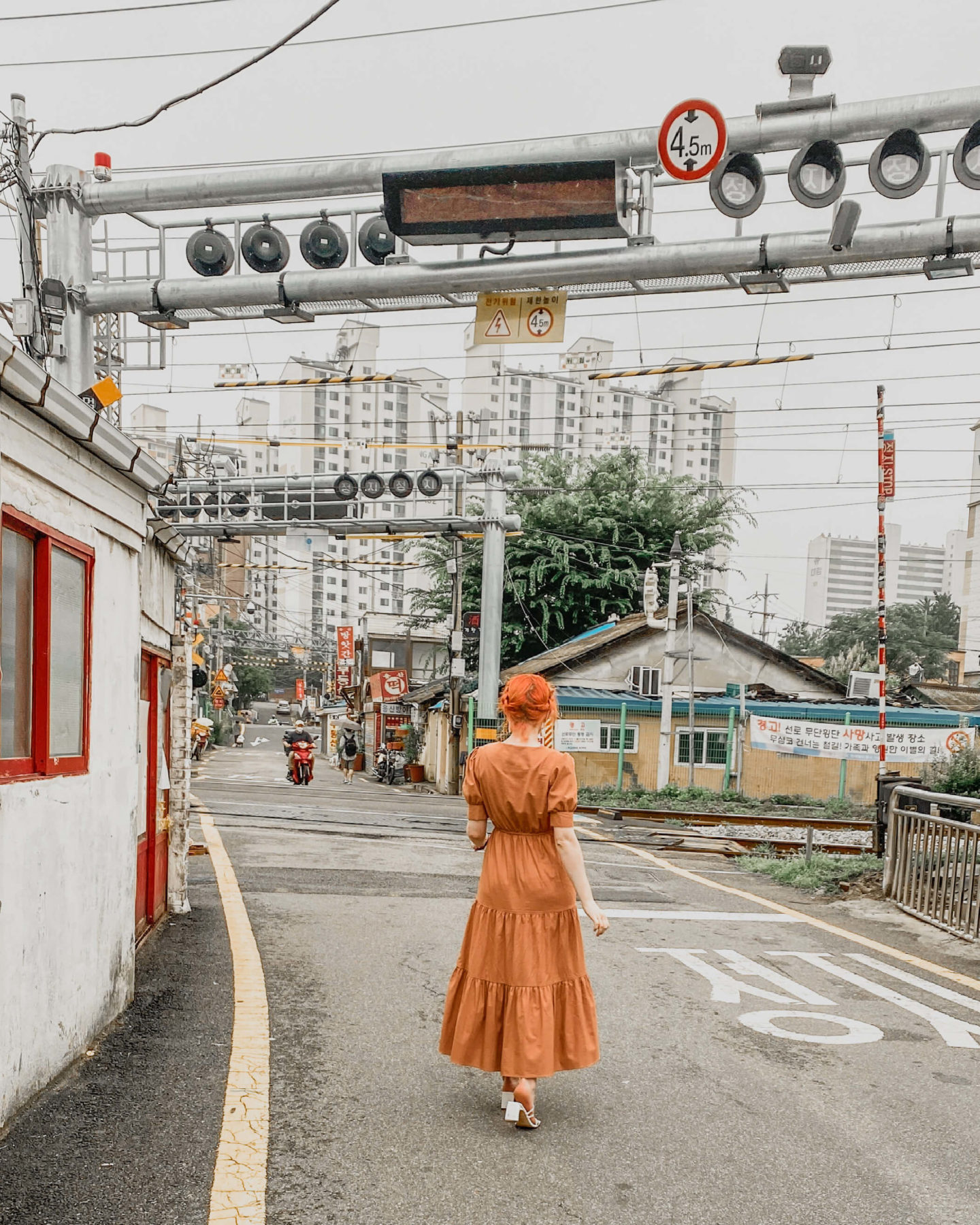 crossing street yongsan-gu Seoul South Korea